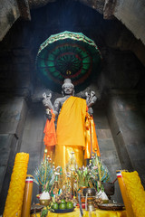 statue of Vishnu, known locally as Ta Reach, revered by Hindus and Buddhists
