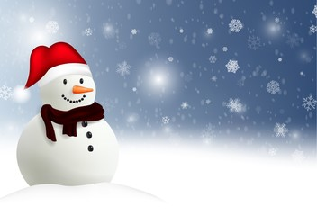 Happy Snowman Christmas background