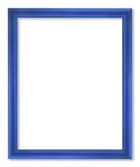 blue picture frame isolated on white
