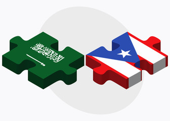 Saudi Arabia and Puerto Rico Flags