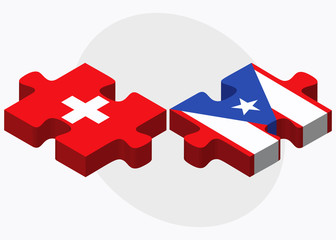 Switzerland and Puerto Rico Flags