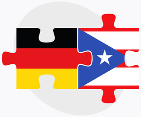 Germany and Puerto Rico Flags
