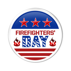 A badge for Firefighters Day