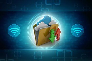 File storage, sharing, in cloud computing