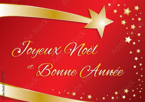 Auguri Di Buon Natale E Felice Anno Nuovo In Francese.Biglietto Vettoriale Buon Natale E Felice Anno Nuovo In