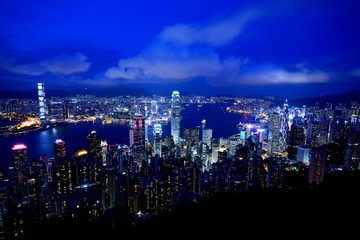 中国・香港 ビクトリアピークからの夜景