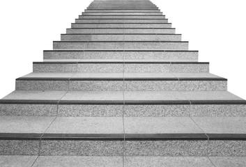 Fototapeten Treppe Long stair concrete isolated on white background