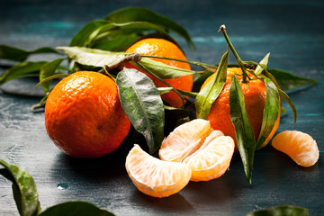 Frische Bio Klementinen vom Markt
