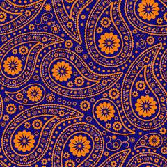 Seamless Paisley background. Elegant Hand Drawn vector pattern.