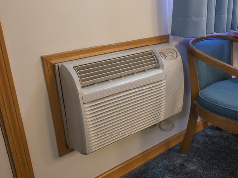 Indoor heater and air conditioner used in hotel rooms