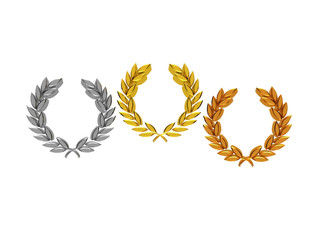 Laurel wreaths in 3D