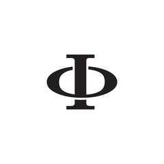 Letter O and I monogram logo