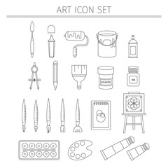 Drawing and painting  icons