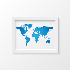 World Map Picture Frame Illustration