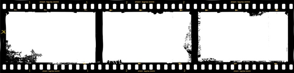 frames of film, grungy photo frames,with free copy space,vector Wall mural