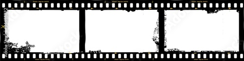 Wall mural frames of film, grungy photo frames,with free copy space,vector