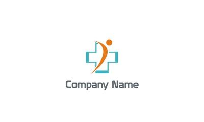 people cross medic hospital company logo