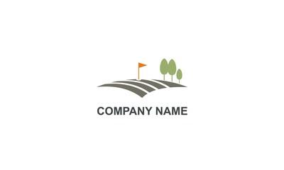golf land flag company logo