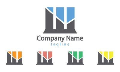 Real Estate Logo Vector With Five Color Options
