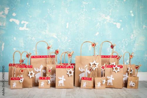 weihnachtskalender zum bef llen stockfotos und. Black Bedroom Furniture Sets. Home Design Ideas