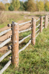 Rural wooden fence