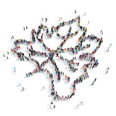 people shape maple leaf
