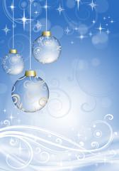 Christmas balls on the Christmas background