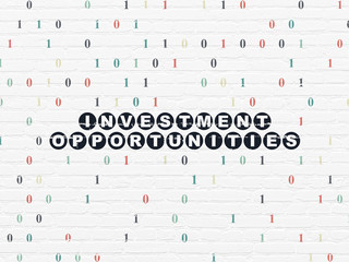 Business concept: Investment Opportunities on wall background