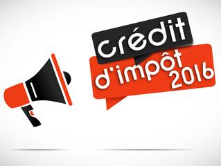 mégaphone : crédit d'impôt 2016
