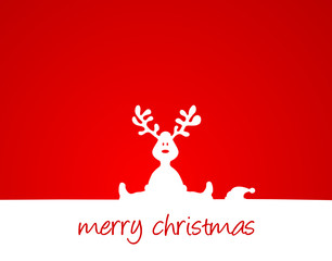 Weihnachtskarte mit Elch