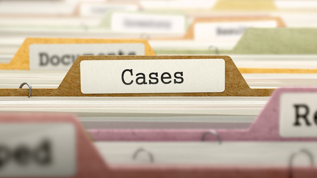 Folder in Catalog Marked as Cases.