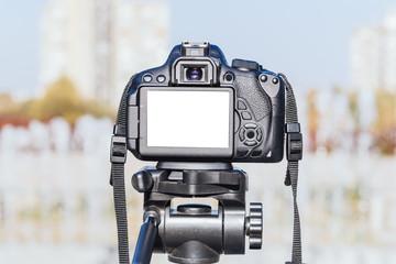 Blank screen on camera
