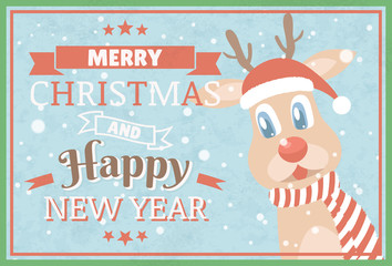 Merry Christmas and Happy New Year. Christmas greeting cards.