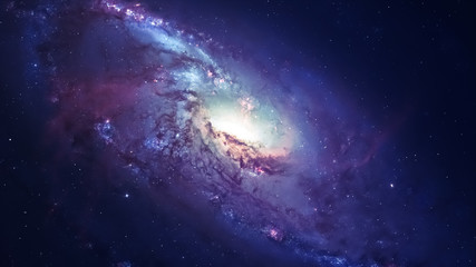 Wall Mural - Awesome spiral galaxy many light years far from the Earth. Elements furnished by NASA
