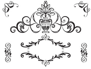 Hand drawn graphic element vector design