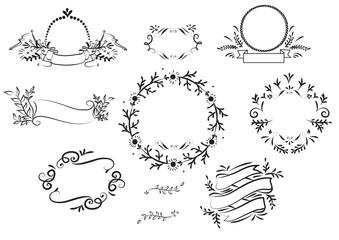 Hand drawn graphic element vector design
