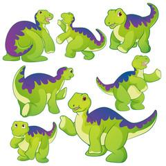 Foto auf Leinwand Kreaturen Cute Apatosaurus