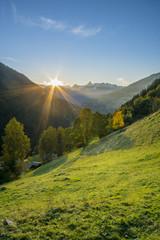 Sonneuntergang in den Alpen