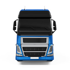 Blue Cargo Delivery Truck