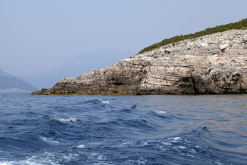 rocky shore  Montenegro.