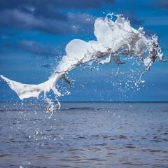 White watercolour splash