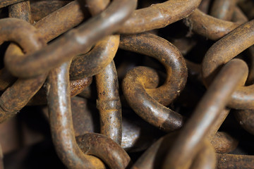 Texture Rusting Chain