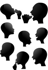 Glossy shadow people