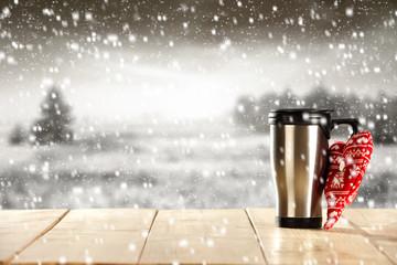 mug and snow