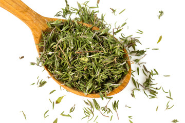 dried thyme isolated on white
