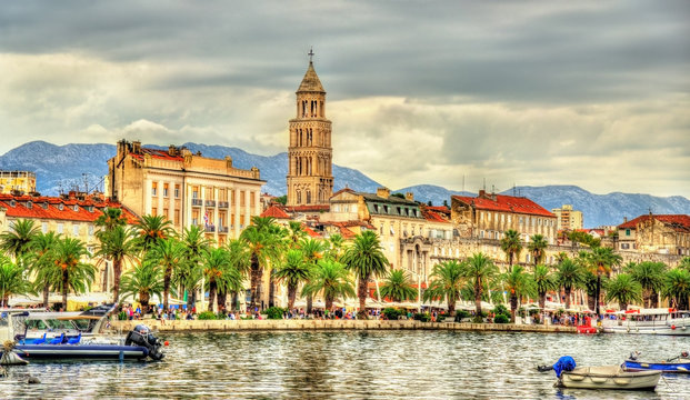 The Riva Embankment of Split - Croatia