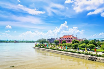 Hochiminh museum in Nha Rong port beside Saigon river in Hochiminh city, Vietnam. Its built in Frech domination.