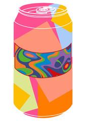 Canettes de soda pop art