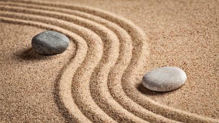 Türaufkleber Zen-Steine in den Sand Japanese Zen stone garden
