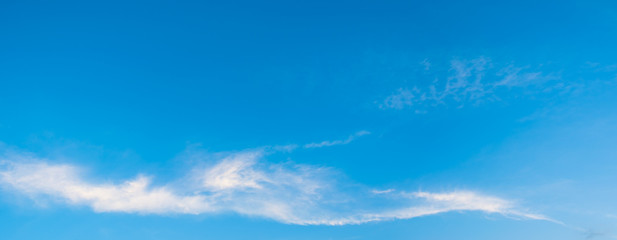 panorama image of blue clear sky on day time for.